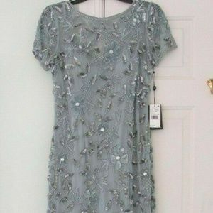 Adrianna Papell Floal Beaded Godot Gown, size 6